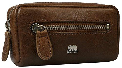 Preisvergleich Produktbild Brown Bear Schlüsseletui Leder braun Reißverschluss 8018 br