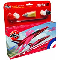 Airfix A55105 Red Arrow Folland Gnat 1:72 Scale Model Small Starter Set