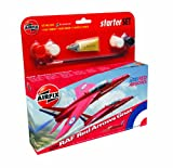 Airfix A55105 Red Arrow Folland Gnat 1:72 Scale Model Small Starter Set, Multicolor