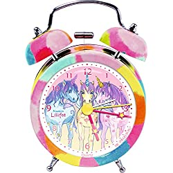 Reloj despertador infantil de la Princesa Lillifee. Con Unicornios.