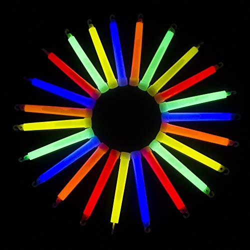 MODEOR I33, 25 Stück 6 Zoll Verschiedene Premium Leuchtstäbe, Leuchtstab, Cool Leuchtstäbe, Fun Light Up Leuchtstäbe, Glow Sticks Party Pack für Kinderpartys, Konzerte, Rave und Glow in the Dark Party