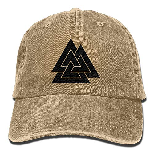 Kostüm Viking Norse - lears Valknut Viking Age Symbol Norse Warrior Unisex Adult Adjustable Baseball Dad Hat