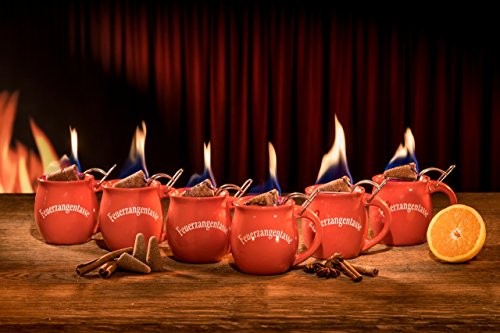 Feuerzangentassen 6er Set (Terracotta / Rot)