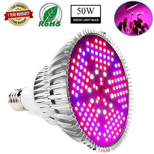 50W LED Pflanze Wachsen Licht Neueste Full Spectrum Led Wachsen Glühbirne High Efficiency Beleuchtung Für Wachsende Gemüse, Blumen Und Wasserpflanzen [Energieklasse A +++] Von SOLUCKY