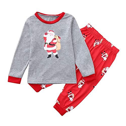 (TianWlio Baby Weihnachten Pyjamas Bekleidung Baby Weihnachten Outfit Baby Mädchen Kinder Baby Langarm Schneemann Tops Bluse Familie Weihnachten Passendes T-Shirt)