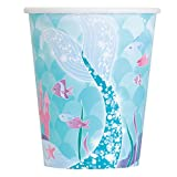 Unique Party 58326-9oz Mermaid Party Cups, Pack of 8
