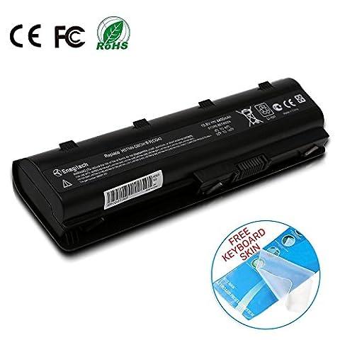 Batteriol Batterie pour Ordinateur Portable HP 593553-001 593554-001 MU06 Pavilion G4 G6 MU09 593562-001 DV6 DV7 CQ42 CQ56 CQ57 CQ62, 6 Cells 10.8V 4400mAh