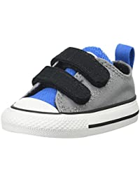 Converse Converse Kids Baby Boy's Chuck Taylor All Star 2V Ox (Infant/Toddler) Dolphin/Light Sapphire/Black 2 Infant M
