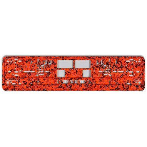 KFZ Kennzeichenhalter Design Nummernschildhalter (Wild Orange - 40001)
