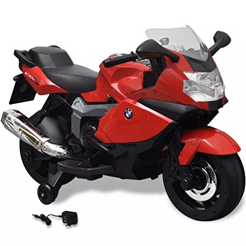VidaXL Moto Eléctrica Juguete Rojo Motocicleta Juego