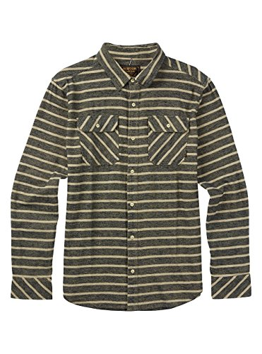Burton Herren Brighton Long Sleeve Woven Top Eclipse Dock Stripe
