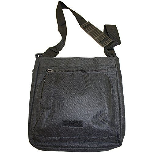 Elegante farfalla Vortici Medium Nero Borsa In Tela, taglia M Purple & Blue