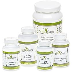 VitaCare 21-Tage-Stoffwechselkur mit Daily One Proteinshake Vanille, HGC-Diät Komplettpaket für ca. 1 Monat mit Anleitung, perfekt um Mangelerscheinungen bei der Diät vorzubeugen
