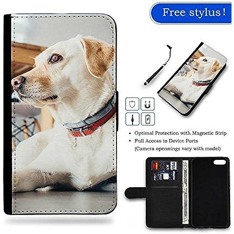 // PHONE ACCESSORY CASE GIFT // Moda Custodia Portafoglio in Pelle Caso Carta di Credito & Denaro Borsellino Copertura Protettiva Samsung Galaxy S7 / Animal Dog Pet Indoors /