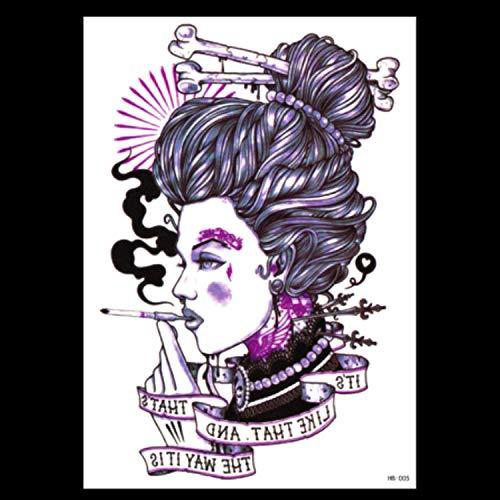 HXMAN Wasserdichte Temporäre Tattoo Aufkleber Voller Arm Big Old School Cool Girl Tatto Ärmel Flash Tatoo Fake Tattoo Für Männer(2 Pack) HB-005