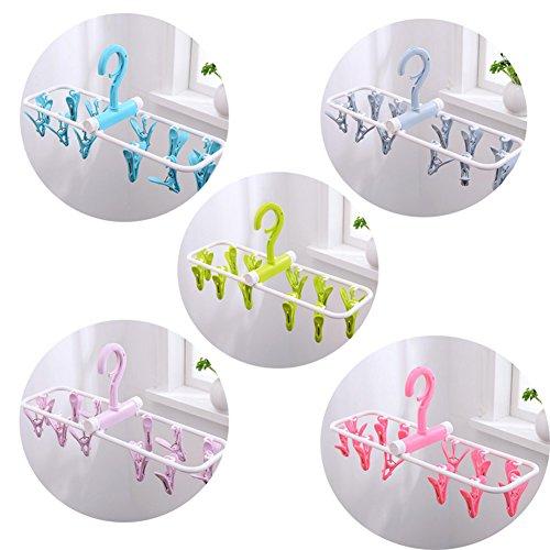 MIAO@LONG Multifunktion Falten Trocknen Rack 12 Clips Kunststoff Winddicht Rutschfest Wäscheklammern Kann Als Verwendet Werden Handtuch/Windel/Unterwäsche/Socke,5Pack