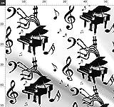Schwarz Und Weiß, Klavier, Musik, Notizen, Orchester,