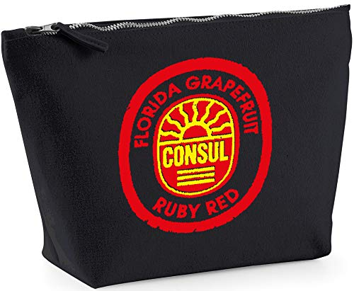 Hippowarehouse Florida Gfruit Consul Ruby Red Label printed make up cosmetic wash bag 18x19x9cm