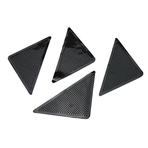 ProGoods 4x Anti-Rutsch-Aufkleber, 10cm x 10cm dreieckig, für hohe Sicherheit unter Teppiche, im Bad, Dusche, Badewanne, selbstklebend, leicht anbringbar, rutschfreier Bodenbelag, Anti-Slip-Sticker/-Streifen/- Matte