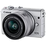 Canon EOS M100 Systemkamera (24,2MP, 7,5 cm (3 Zoll) Display, WLAN, NFC, Bluethooth, Full HD) Kit mit EF-M 15-45 mm f/3.5-6.3 IS STM weiß