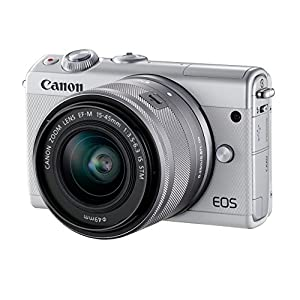 Canon EOS M100 Digital Camera with EF-M 15-45 mm - White