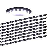 30cm 15LEDs Strisce Illuminazione Interna adesivo impermeabile (Bianco freddo)
