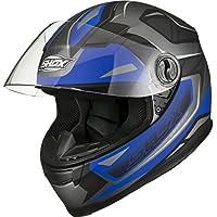 Shox Sniper Spear - Casco para Motocicleta, Talla S, Color Azul Mate