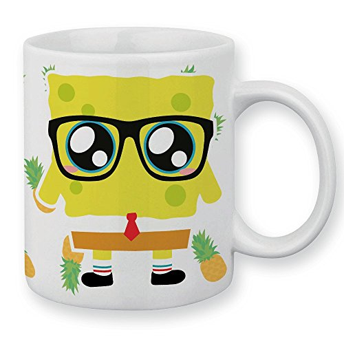 Mug Bob l'éponge et ananas chibi et kawaii by Fluffy chamalow - Fabriqué en France - Chamalow shop