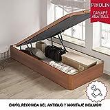 PIKOLIN, canapé abatible Gran Capacidad de almacenaje Color Cerezo 90x190, Servicio de Entrega Premium Incluido