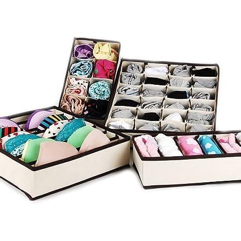 fendii Durable plegable cajón armario organizadores 4piezas sujetador ropa interior cajas de
