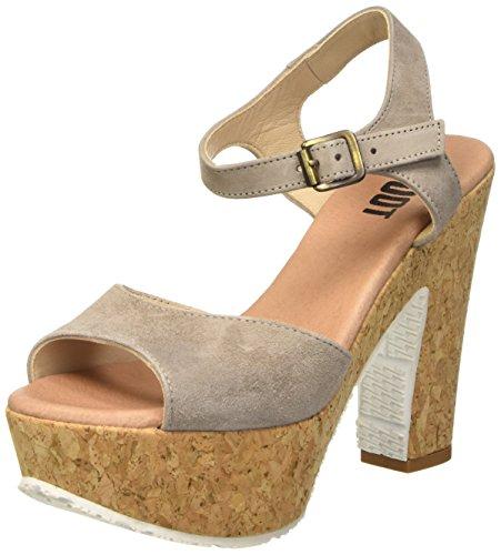 SHOOT Shoot Shoes Sh-160171vv Damen Sommer Leder High Heels Plateau Sandale, Sandales à plateforme femme Beige - Taupe