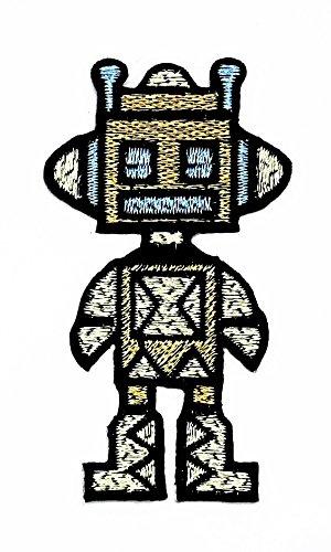 rabana Roboter fsociety TV Show Cartoon Kids Kinder Cute Animal Patch für Heimwerker-Applikation Eisen auf Patch T Shirt Patch Sew Iron on gesticktes Badge Schild (Kostüme Kid Tv Show)