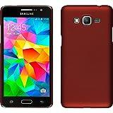 Funda Rígida para Samsung Galaxy Grand Prime - goma rojo - Cover PhoneNatic Cubierta + protector de pantalla