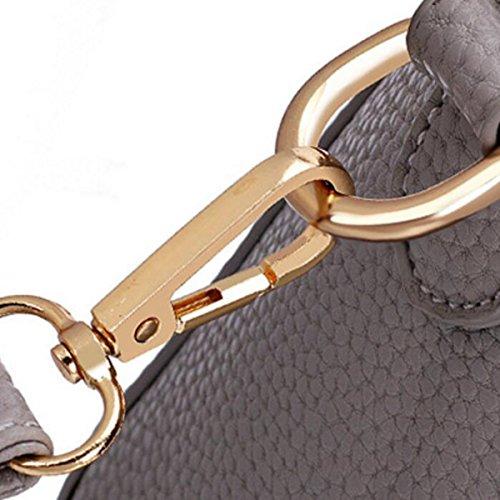 Dame Retro Handtaschen Umhängetasche Portable Messenger Bag,Pink Pink