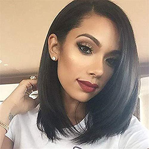 Pelucas Mujer Pelo Natural Negro Peluca Corta BOb
