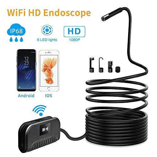 SSeir 5,5 Mm USB HD-Endoskop, 2 MP Inspektionskamera W-LAN Schlange Kamera Endoskop IP68 Wasserdicht Mit 6 Led Licht, Für PC/Laptop/Computer/Telefon