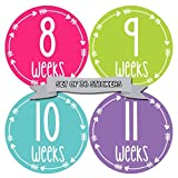 Months In Motion Pregnancy Week By Week Belly Stickers | Set of 36 Photo Stickers