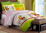 Bombay Dyeing Colours of India 144 TC Cotton Double Bedsheet with 2 Pillow Covers - Green