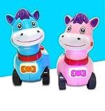Sunshier Fördert die Hand-Auge-Koordination Mini-Baby-Spielzeug-Multi-Funktions-Pferd, das Machine Story Telling (zufällige Farbe) tröstet