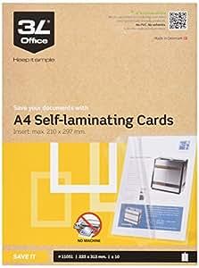 3L A4Self Laminating Cartes (lot de 10)