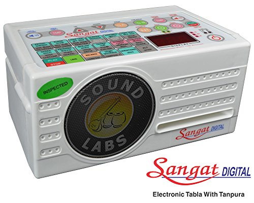 Sound-Labs-Sangat-Digital-Electronic-Tanpura-With-Tabla-Of-Raagini-Taal-Tarnag-White