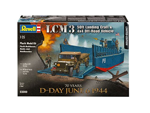Revell 1/35 lcm iii 50ft & jeep and trailer # 03000