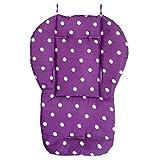 cojin de asiento de carrito de nino - SODIAL(R) Funda de algodon almohada de asiento de grueso de cochecito infantil de bebe purpura