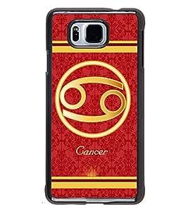 Fuson 2D Printed Sunsign Cancer Designer back case cover for SAMSUNG GALAXY ALPHA G850 - D4397