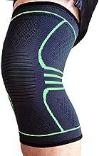 UNI FAM Knee Brace Manga de compresión de rodilla Soporte para correr, trotar, deportes, alivio de dolor articular, artritis y recuperación de lesiones-Envoltura única