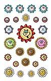 Avery Zweckform 53878 Kinder Sticker, Blumen Gesichter, 50 Aufkleber