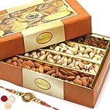 #8: Ghasitaram Gifts Rakhi Gifts For Brother Rakhi Dryfruits - Ghasitaram's Dryfruit Box 400 gms with Om Rakhi