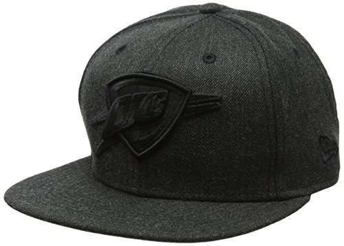 New Era Herren Total Tone Snapback 9FIFTY Oklahoma City Thunder NBA Cap, Black
