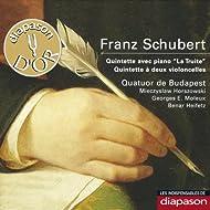 """Schubert: Quintette avec piano """"La truite"""" & Quintette à deux violoncelles(Les indispensables de Diapason)"""