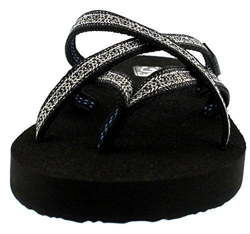 Teva Olowahu W`s 8761, Flip flop donna Nero (nero (742 pintado black/white))